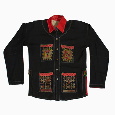 Sun Embroidered Dao Button-up Shirt