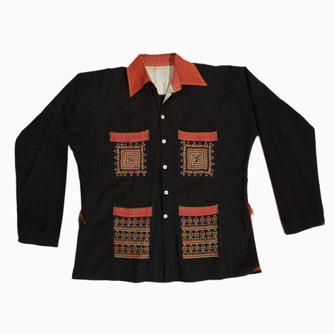 Night Sky Embroidered Dao Button-up Shirt