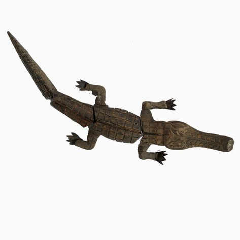 Sung Wood Crocodile Marionette Puppet
