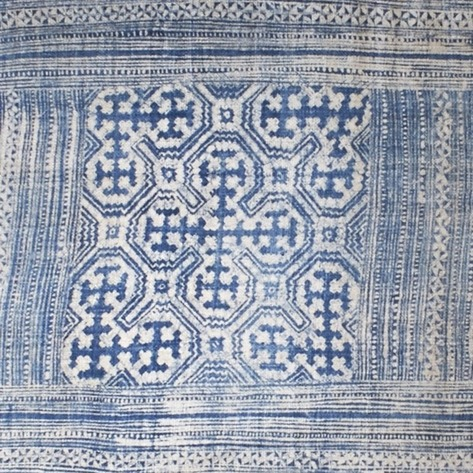Indigo Batik Table Runner