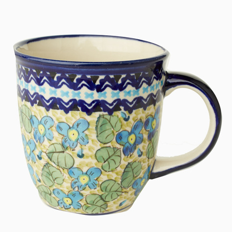 Mint Boleslawiec Coffee Mug