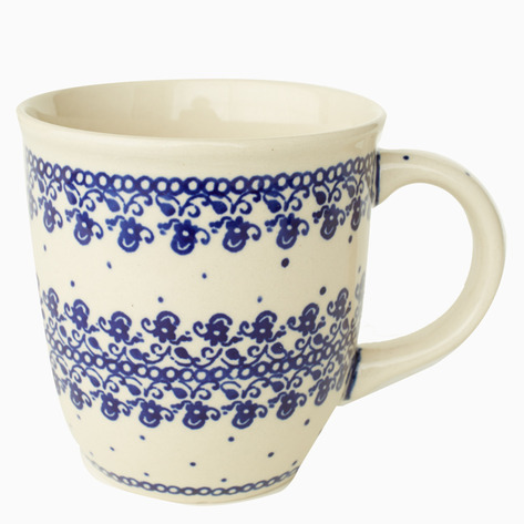 Cornflower Boleslawiec Coffee Mug