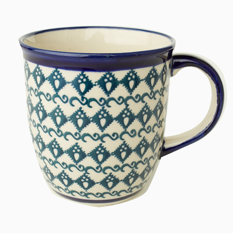 Teal Boleslawiec Coffee Mug