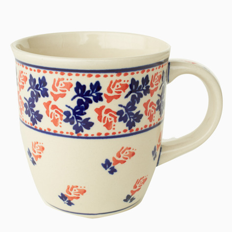 Rose Boleslawiec Coffee Mug