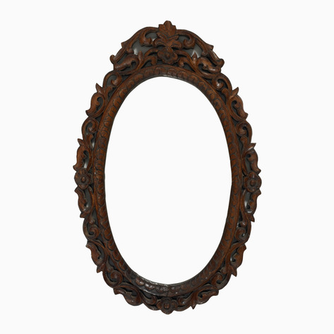 Carved Wood Mirror