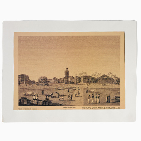 View of Bombay Green Print