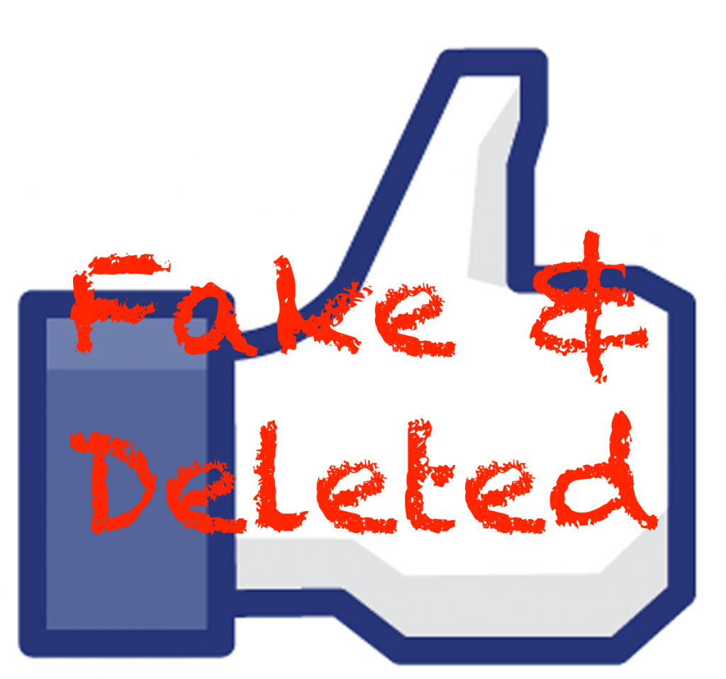 Facebook deleted fake accounts