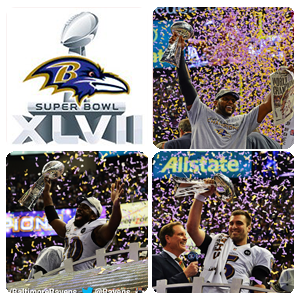 Baltimore Ravens wins the 47th Super Bowl