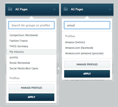 Work Faster With The Central Social Media Profile Selector
