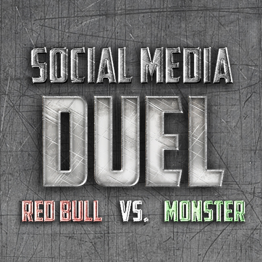 Blog Opener - Infographic: Social Media Duel: Red Bull VS. Monster