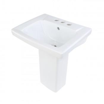Children's White Pedestal Sink Grade A Vitreous China