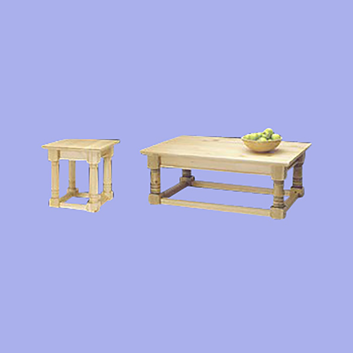 Coffee And End Table Country Pine Set