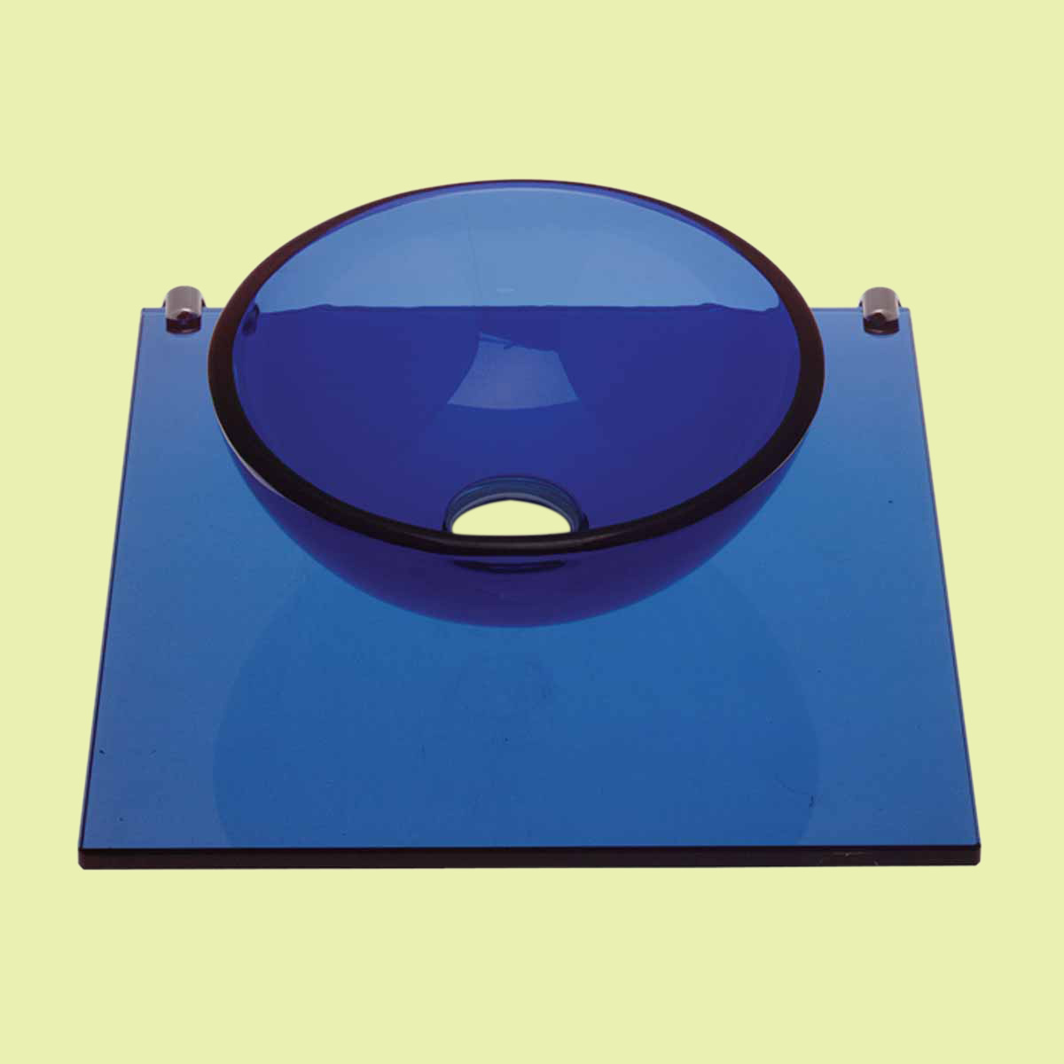 The Renovators Supply Small Wall Mount Blue Glass Sink Bathroom Mini Vessel | Renovator's Supply