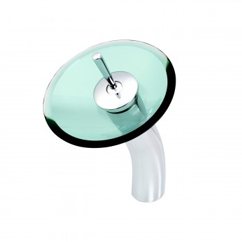 12 inch Waterfall Faucet Green Disk