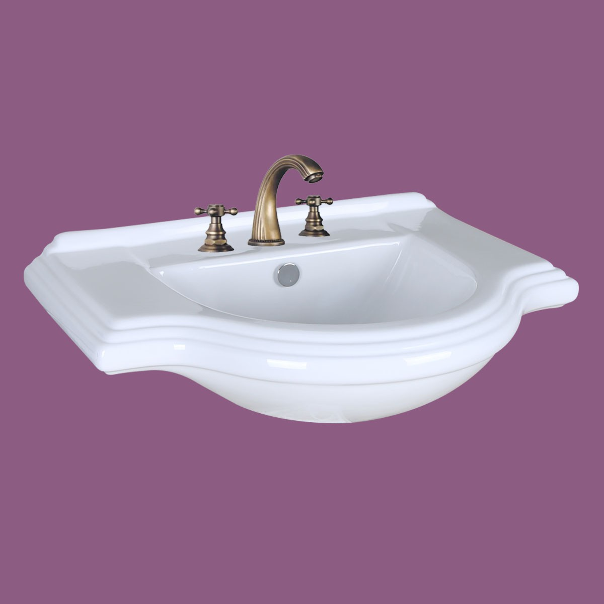 Vintage Wall Mount Bathroom Console Sink 8