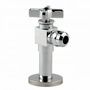 Toilet Angle Stop Chrome 1/2 FIP x 1/2 OD