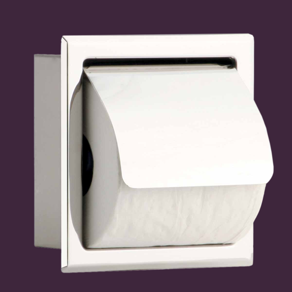 Recessed Toilet Paper Tissue Holder Bright Stainless Steel