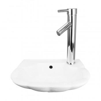 Small Wall Mount Bathroom Sink White Periwinkle 14 1/4 W