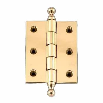 Cabinet Hinge Solid Brass Ball Tip 2