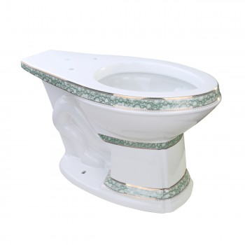 Toilet Part White/Gold/Blue Sheffield Deluxe Bowl Only
