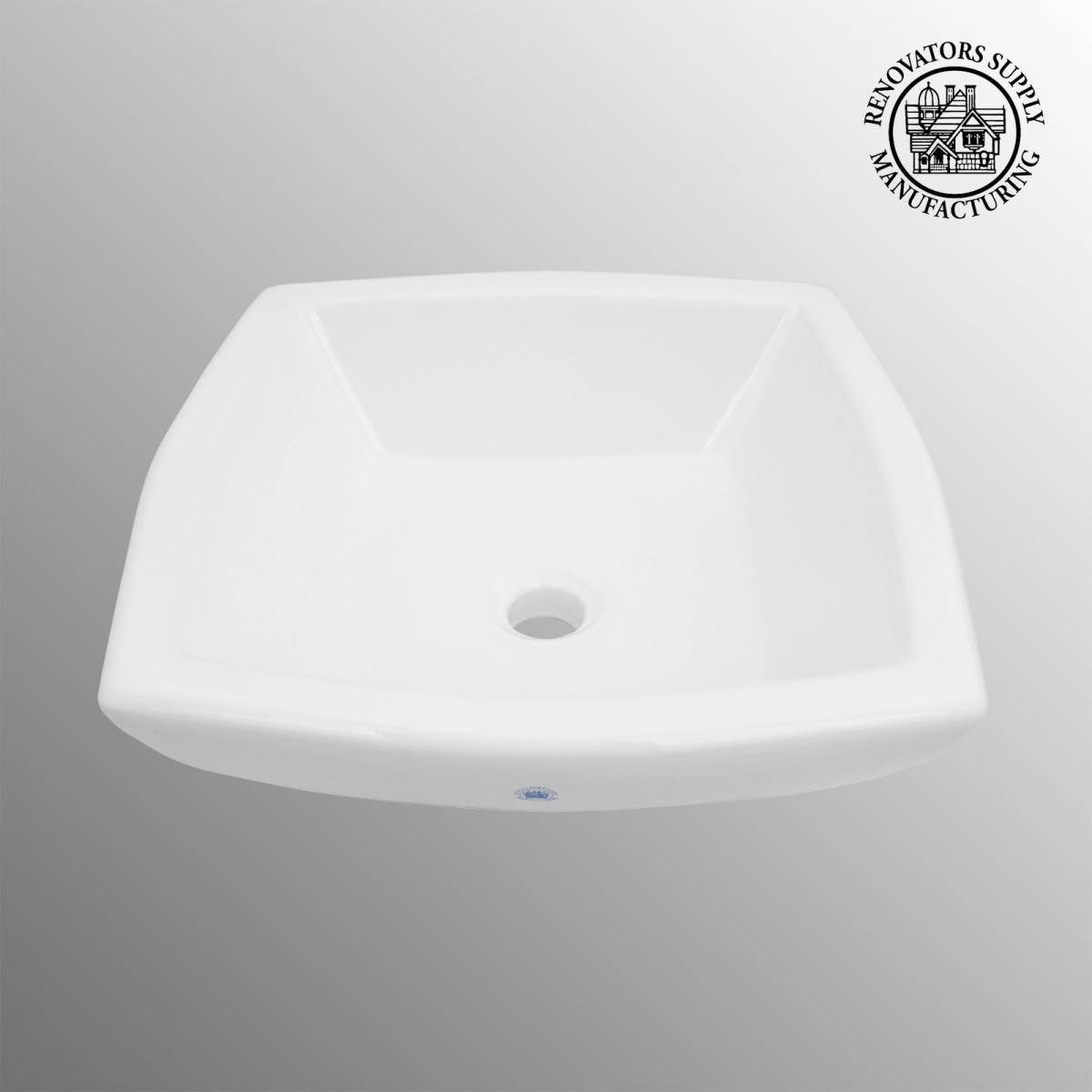 Square Vessel Sink White : home bathroom bathroom sinks parts small bathroom sinks