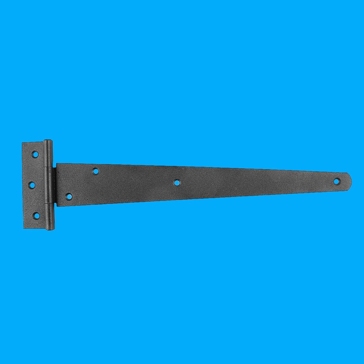 The Renovators Supply Door Hinges Black RSF Wrought Iron T Hinge 13