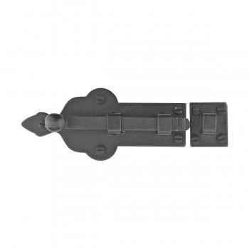 Slide Door Bolt Black Wrought Iron  4