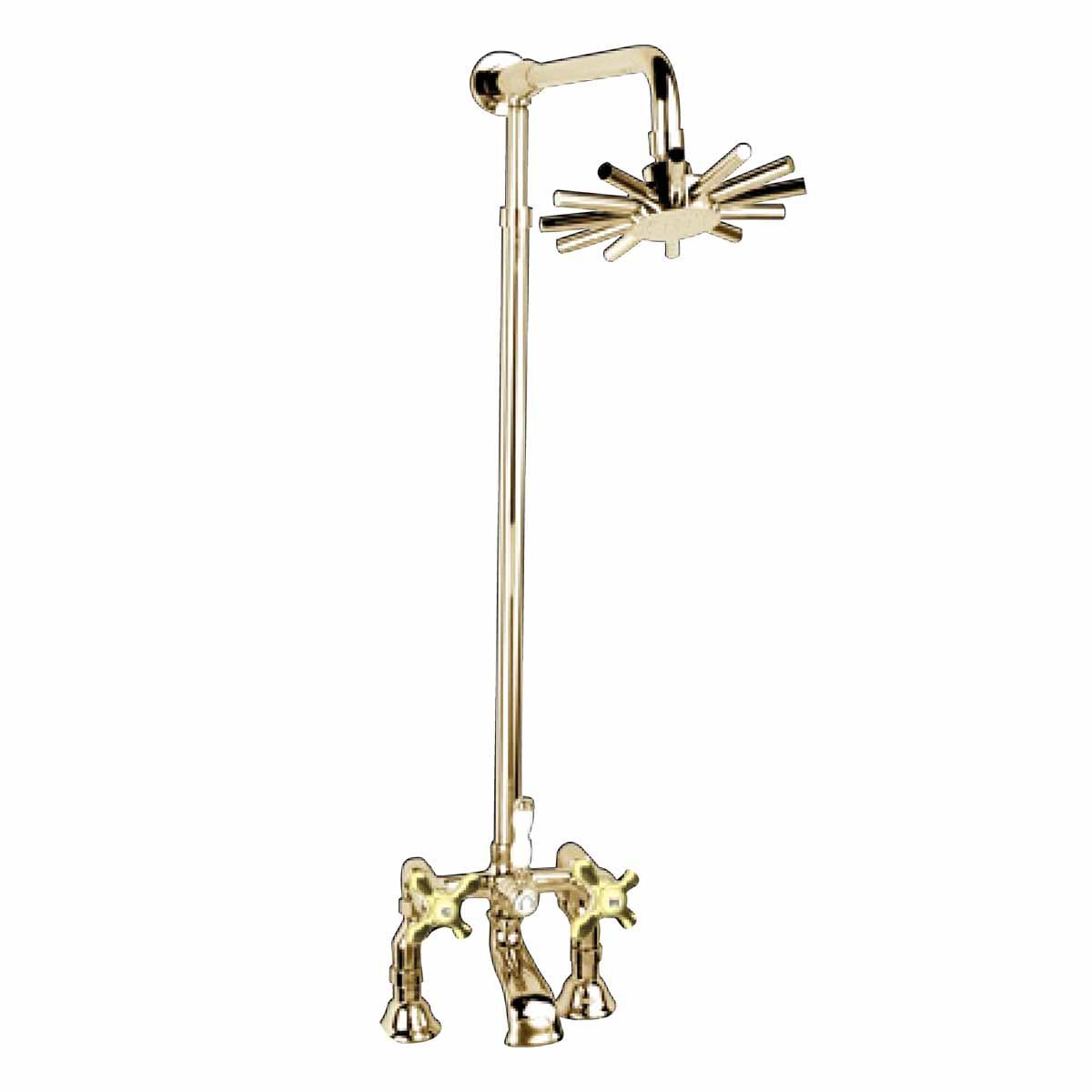 clawfoot tub faucet floor mount. Jiayoujia Floor Mounted Clawfoot Tub Filler Faucet  Deck Mount Amp Adjustable Shower Gold Pvd