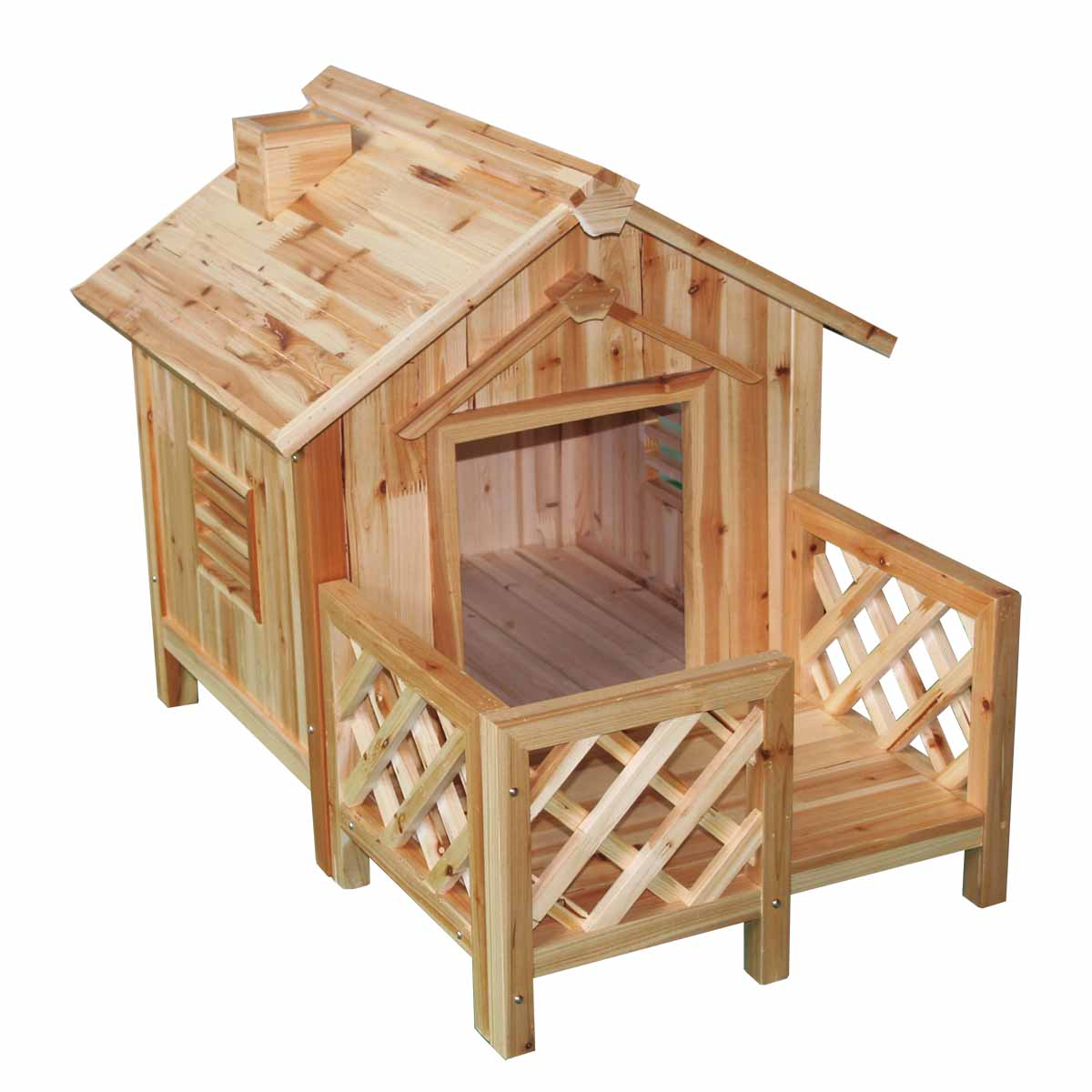 Very Impressive portraiture of Details about Wood Dog House Outdoor Wooden Pet Shelter Bed M w/ Porch  with #A54E26 color and 1200x1200 pixels