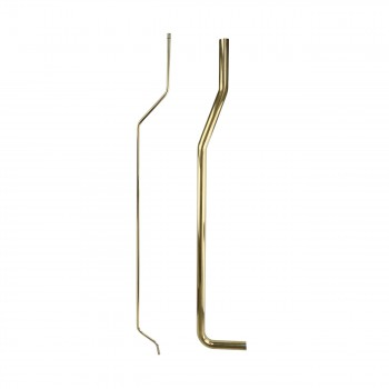 Stainless Steel/Brass Toilet Supply Line and L Pipe PVD Finish