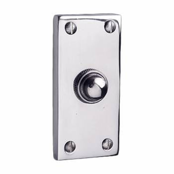 Door Bell Traditional Chrome Push Button Plate