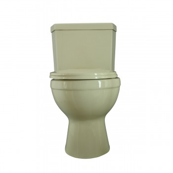 Water Saver Corner Toilet Top Dual Flush Round Bone Bowl