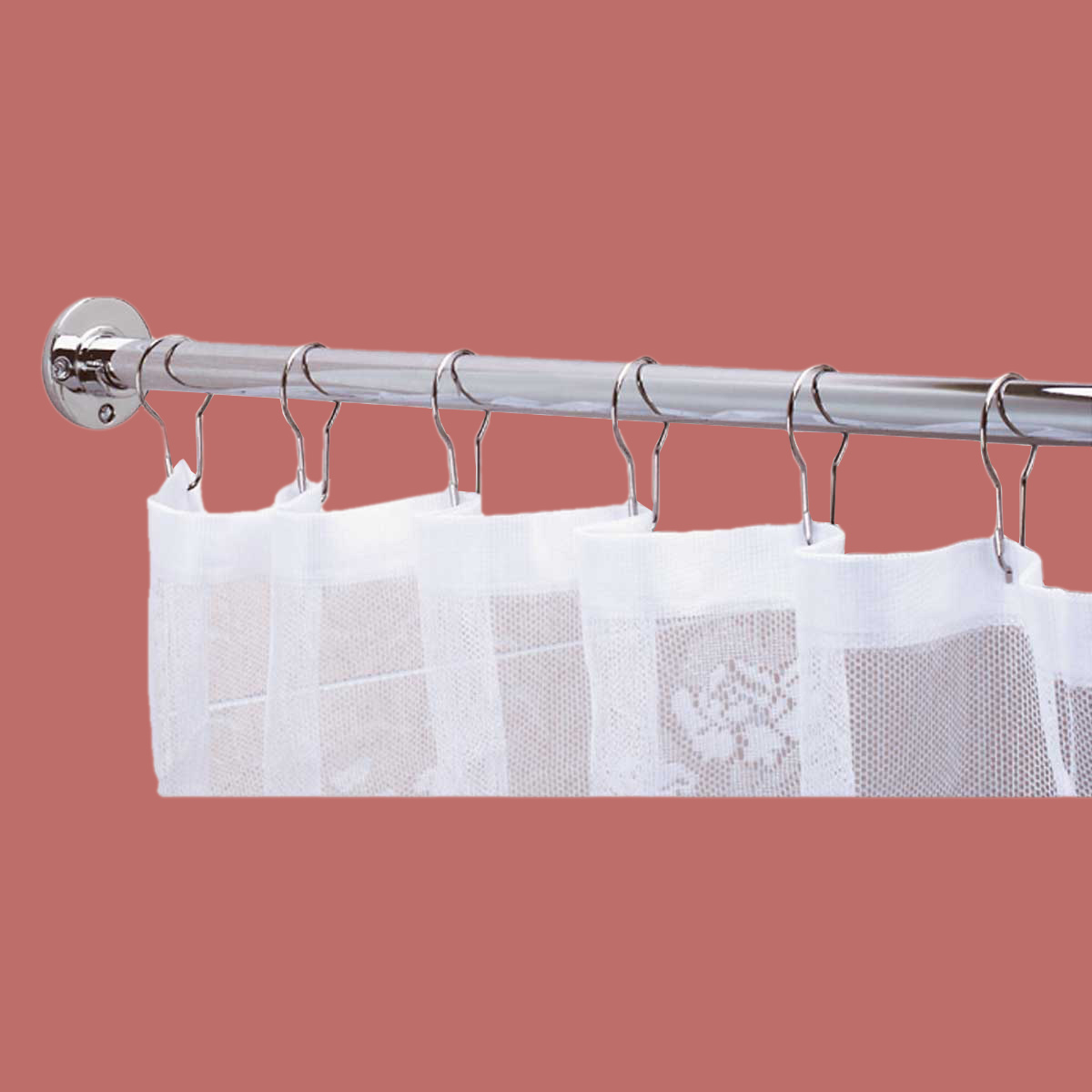Shower Curtain Rod Bright Chrome 6 Feet Long