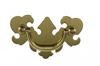 Bright Solid Brass Chippendale Bail Pull