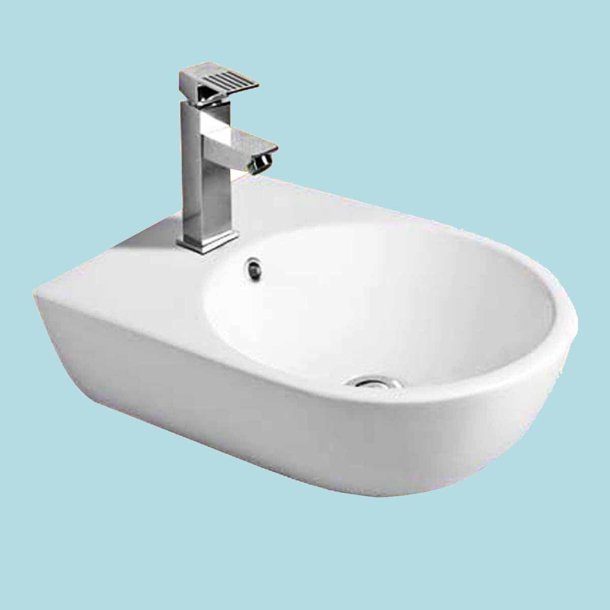 The Renovators Supply Small Wall Mount Bathroom Sink Above Counter Vessel White Renovator's Supply
