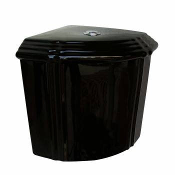 Black  Ceramic Corner Sheffield Tank only