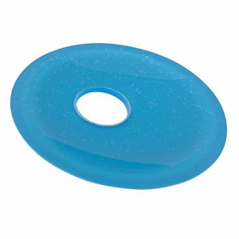 Blue Blink Glass Plate For Waterfall Faucet