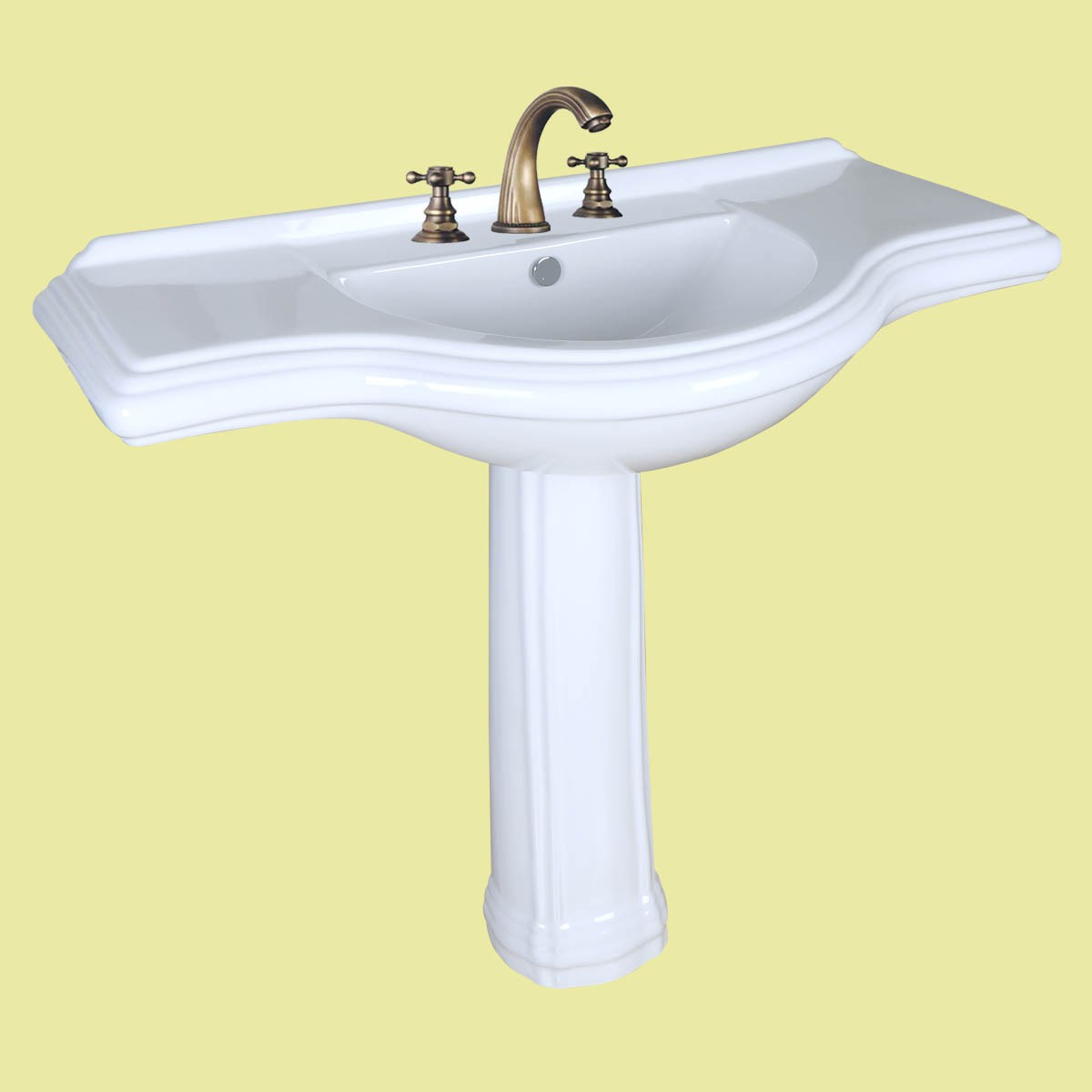 Vintage Pedestal Sink X Large Bathroom Console 8