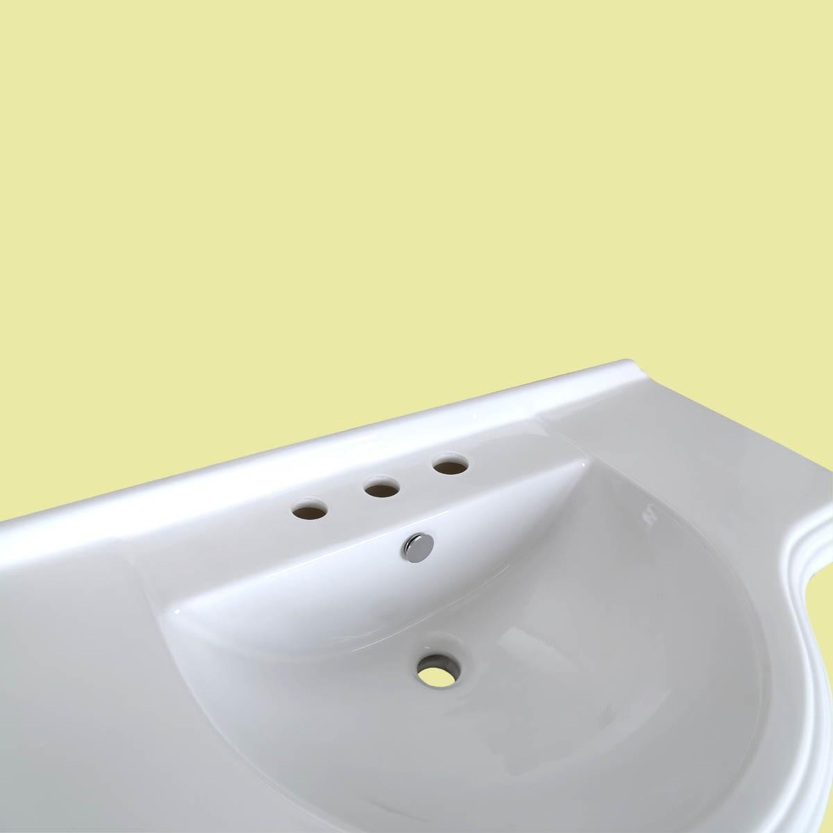 vintage pedestal sink x large bathroom console 8
