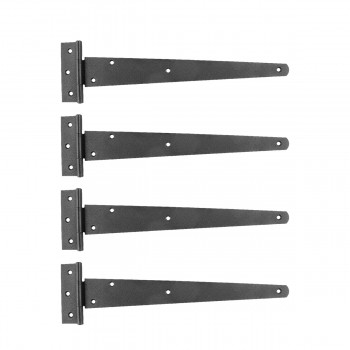 4 Pcs T Strap Door Hinges Black RSF Wrought Iron 13