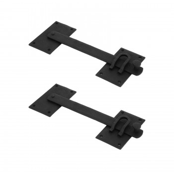 2 Lift Gate Latch Black Wrought Hand Forged Iron 12