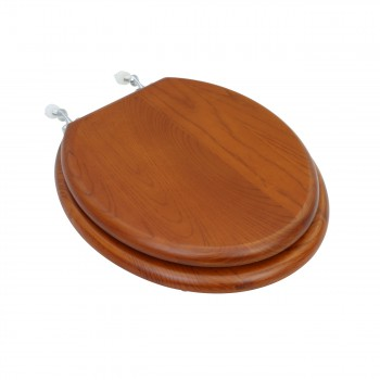Toilet Seats Round Light Mahogany Hardwood Toilet Seat Chrome
