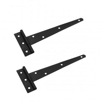 2 T Strap Door Hinge Black RSF Wrought Iron 9