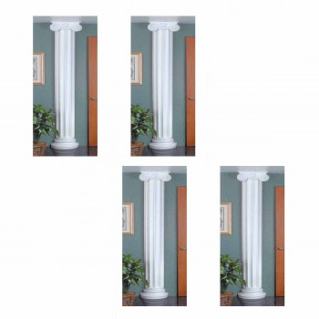 4 Half Columns White Urethane Fluted Style Set of 4