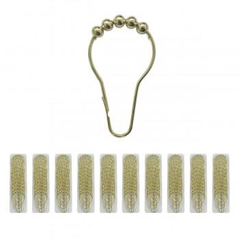 10 Roller Rings Brass Plated Brass Brass Shower Curtain Roller Rings set