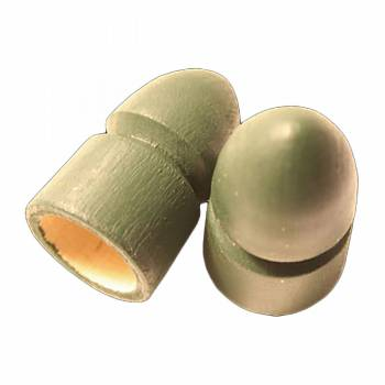 Pair Curtain Rod Finials Green Pine Bullet Finials 3/4