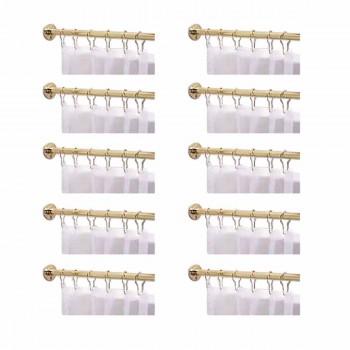 10 Shower Curtain Rods Solid Brass 5' long brass Shower Curtain Rod