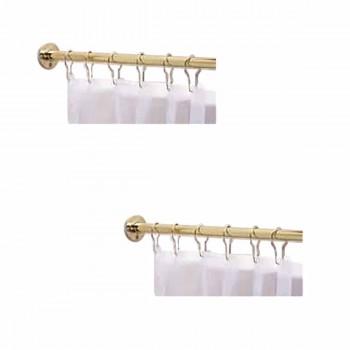 2 Shower Curtain Rods Solid Brass 5' long brass Shower Curtain Rod