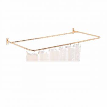 4-Sided Shower Rod Brass 66