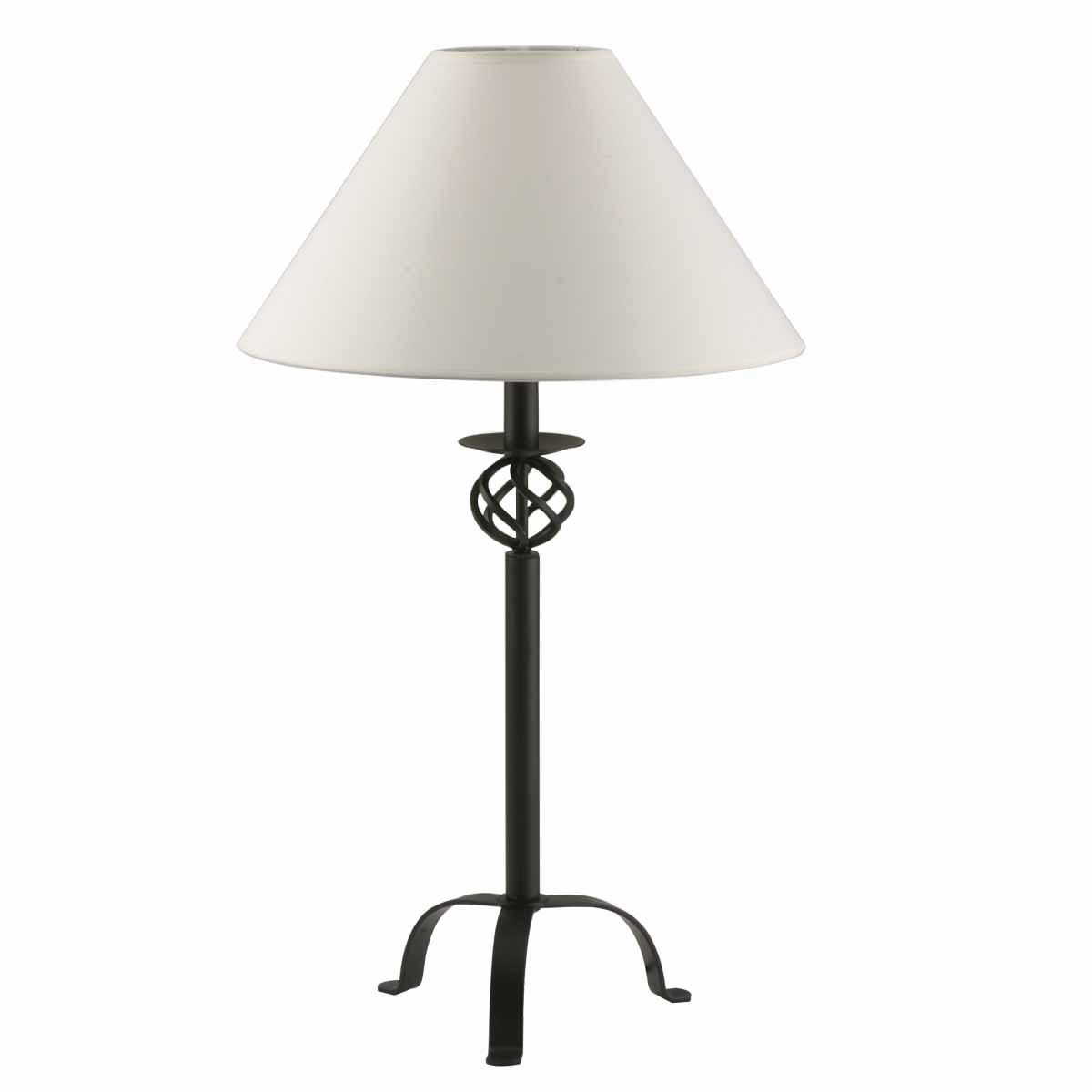 black wrought iron table lamp 28 h. Black Bedroom Furniture Sets. Home Design Ideas